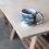 Handmade Stoneware Slip Mug