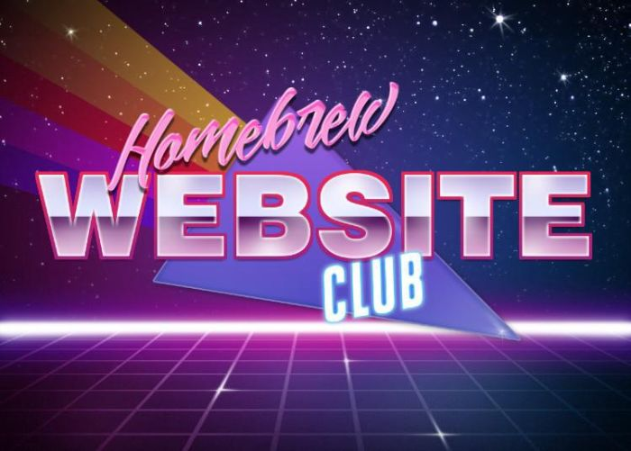 homebrew website club futuristic logo