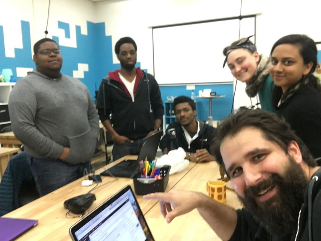 Feb 20, 2018 homebrew website club meetup at Digital Harbor Foundation