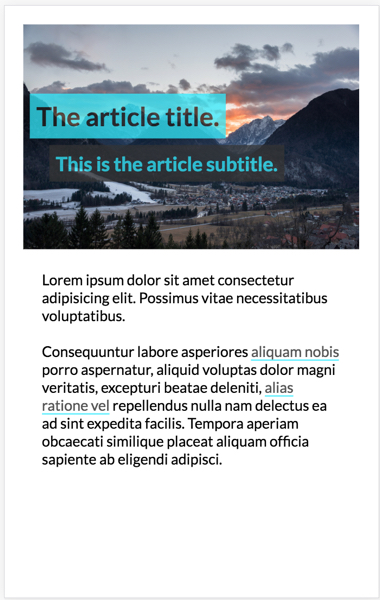overlap blog post mobile