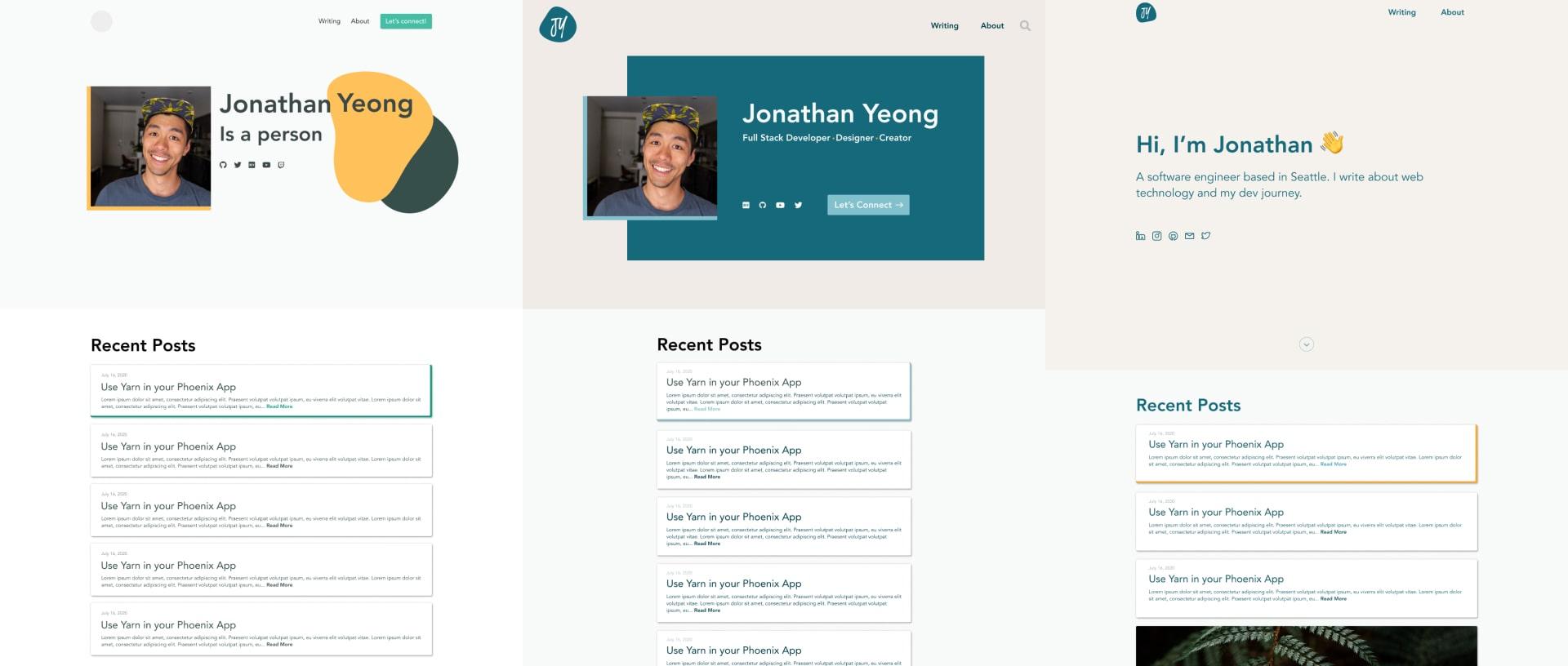 Blog design evolution
