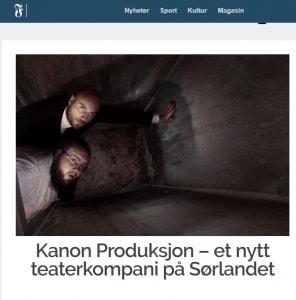 fvn.no   Kanon Produksjon – et nytt teaterkompani på Sørlandet