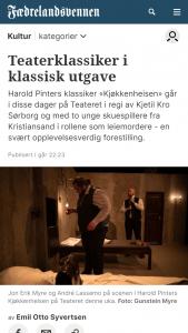 fvn,no | Teaterklassiker i klassisk utgave