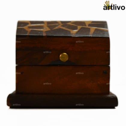Coconut Shell Hut Style Decorative Box