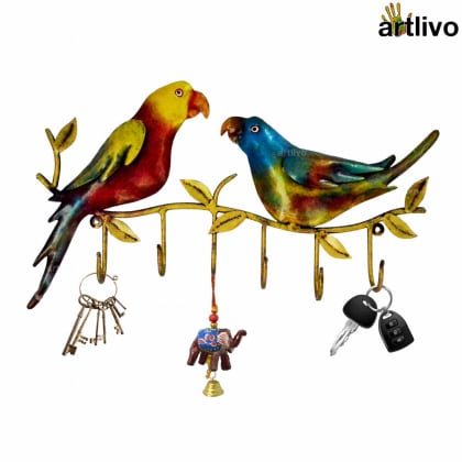 POPART Colorful Metal Parrot hook (6 Hooks)