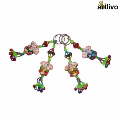 POPART Ganesha Key Chain with Ghungru - Set of 4