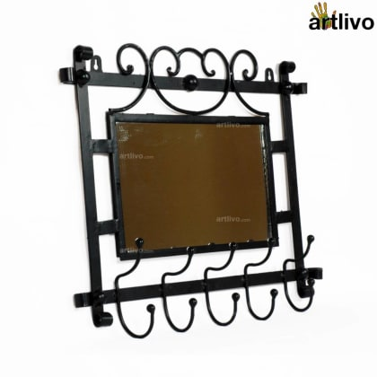 Powder Coated Wrought Iron Mirror Frame