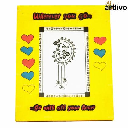 POPART Valentine Love Photo Frame - Yellow - 5*7