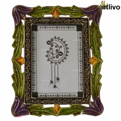 EMBOSSED Carved Photo Frame - Purple - 5*7