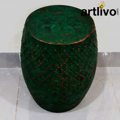Iron Stool: Green