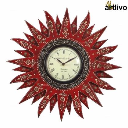 BOLD RED Sunny Wall Clock