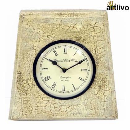 Crackle Finished Clock