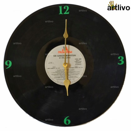 Record Wall Clock - Green