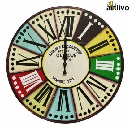 POPART Vibgyor Round clock - Roman