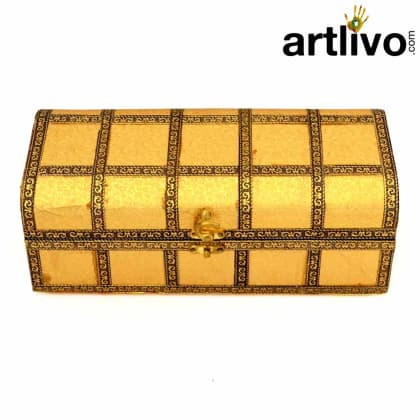 Rectangle Single Lead Bangle Box With Brass