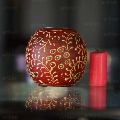 BOLD RED Orb Candle