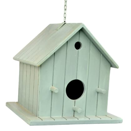 Decorative Hanging Bird House - Grey
