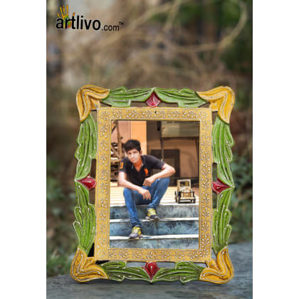 EMBOSSED Carved Photo Frame - Green - 5*7