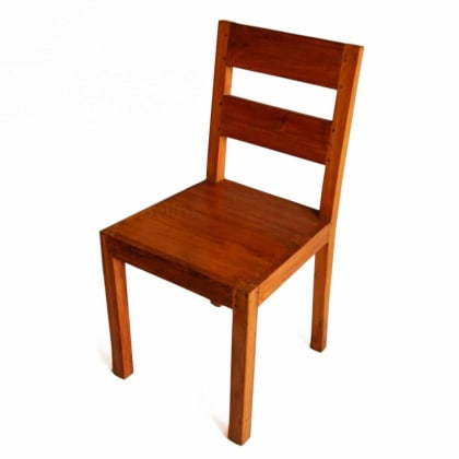 Wooden chair with glossy look