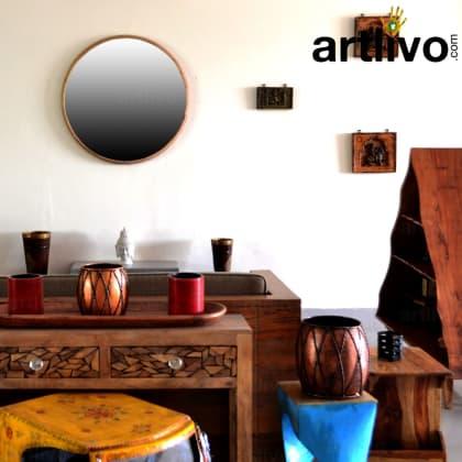 Wooden Mirror Frame Round