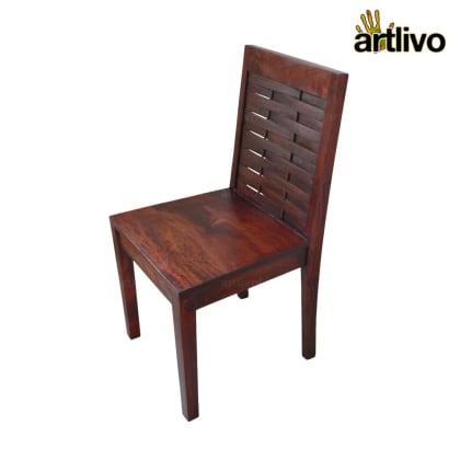 MERLOT Wooden Mesh Standard Dining Chair