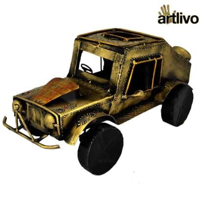 Iron Golden Metal Jeep