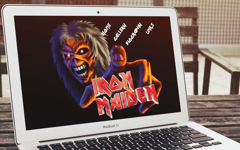 Iron Maiden Flash website