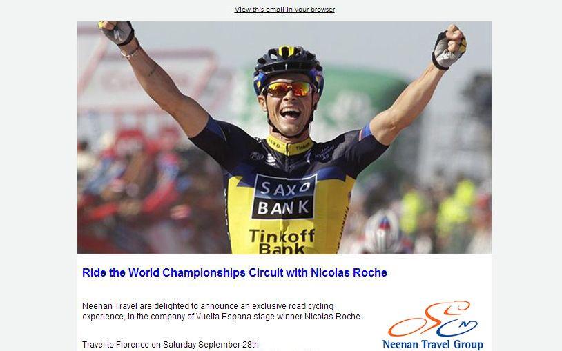 Nicolas Roche newsletter