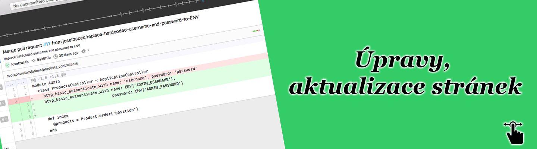 Úpravy, aktualizace stránek