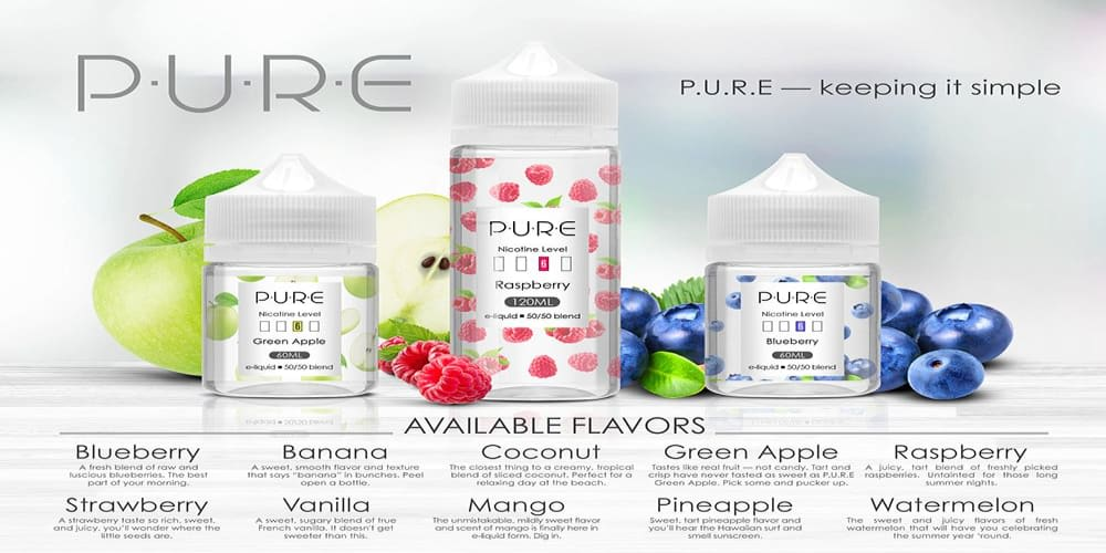 PURE E LIQUID RANGE