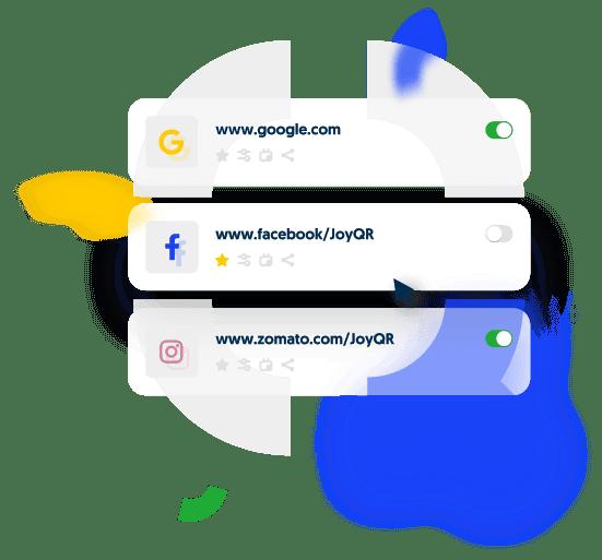 Showcase of JoyQR easy management of links