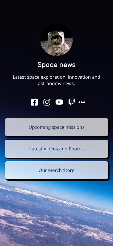 Showcase of JoyQR biolink in space theme