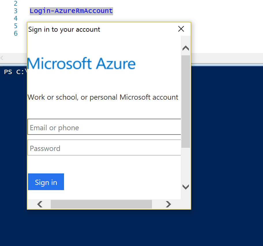 Login Azure Resource Manager Account