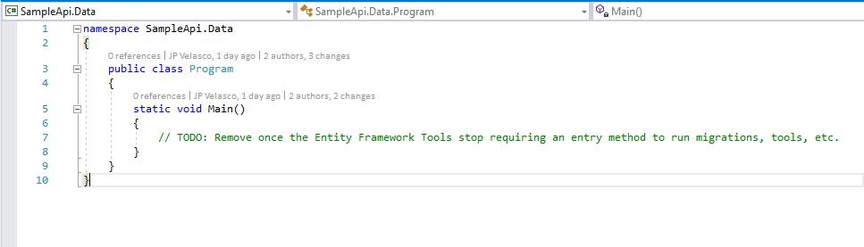 Program.cs with Main Entry Method