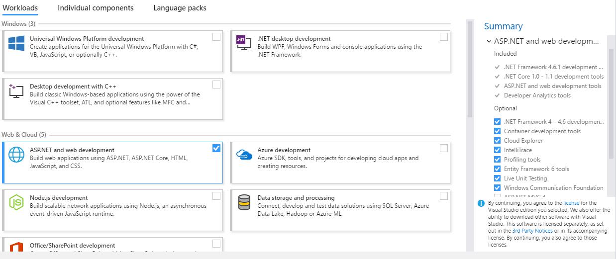 ASP.NET Installation Checklist