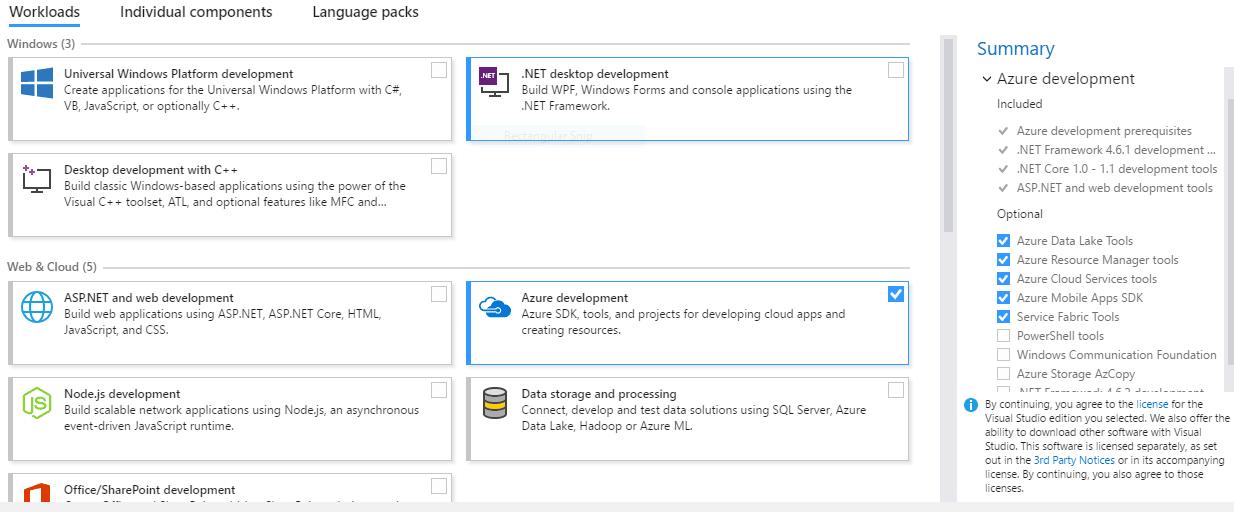 Azure Installation Checklist