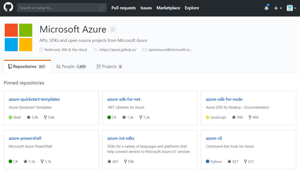 Azure on GitHub