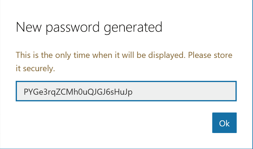 Generated Password