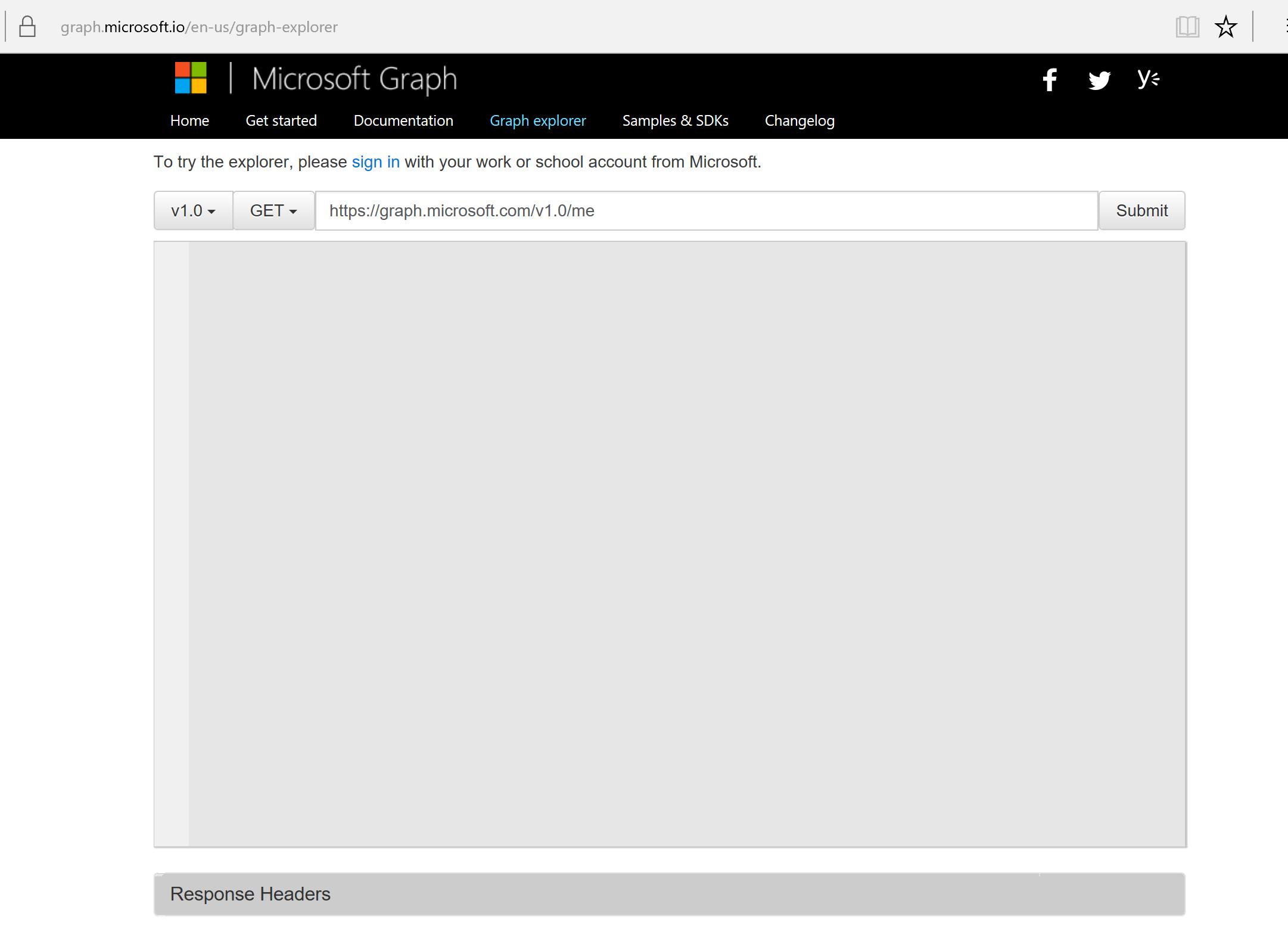 Microsoft Graph Explorer
