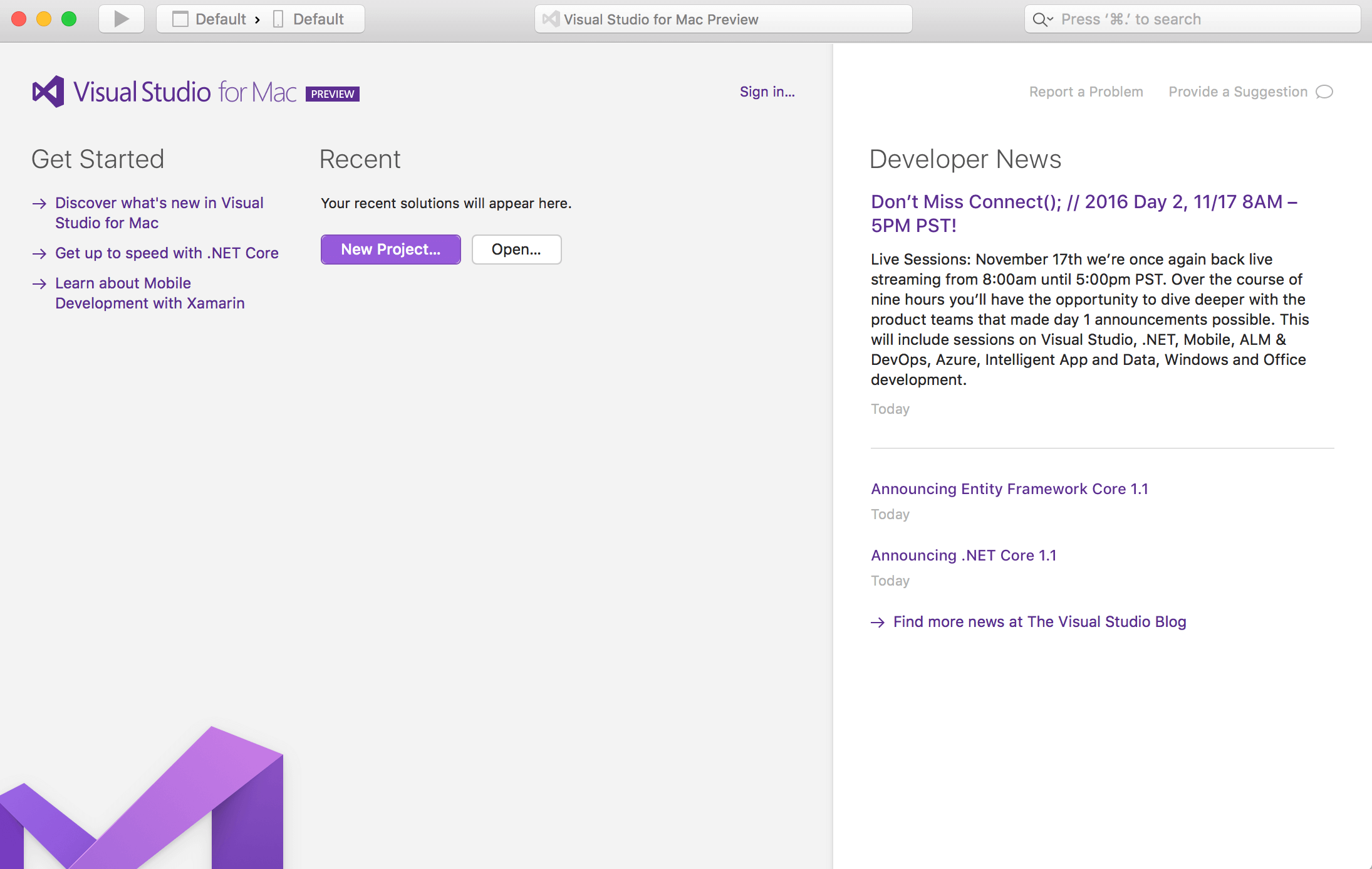 Visual Studio for Mac (Preview)
