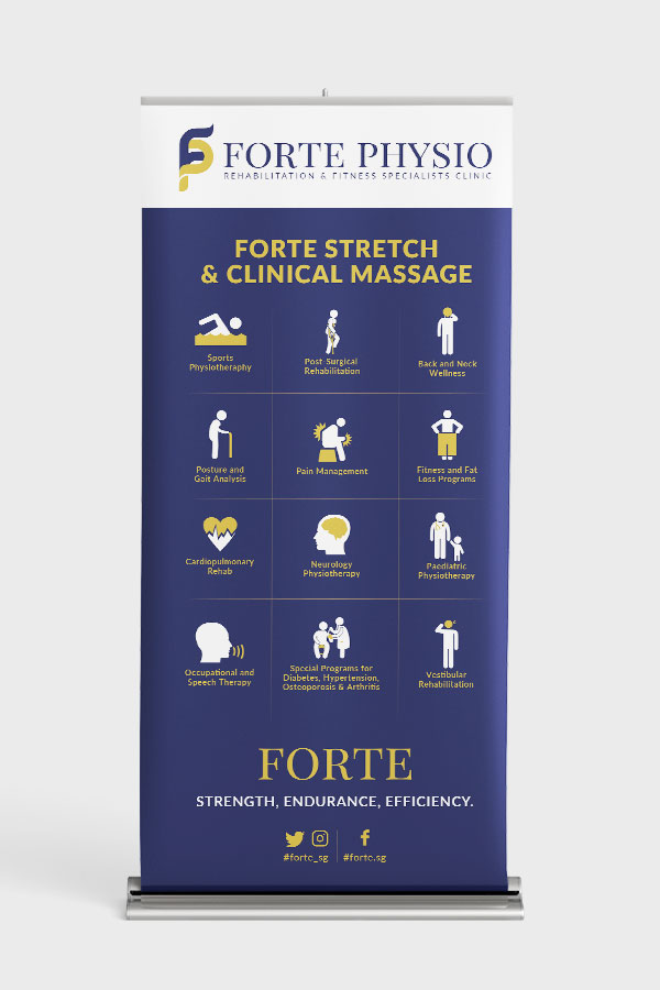 Forte Physio Standee