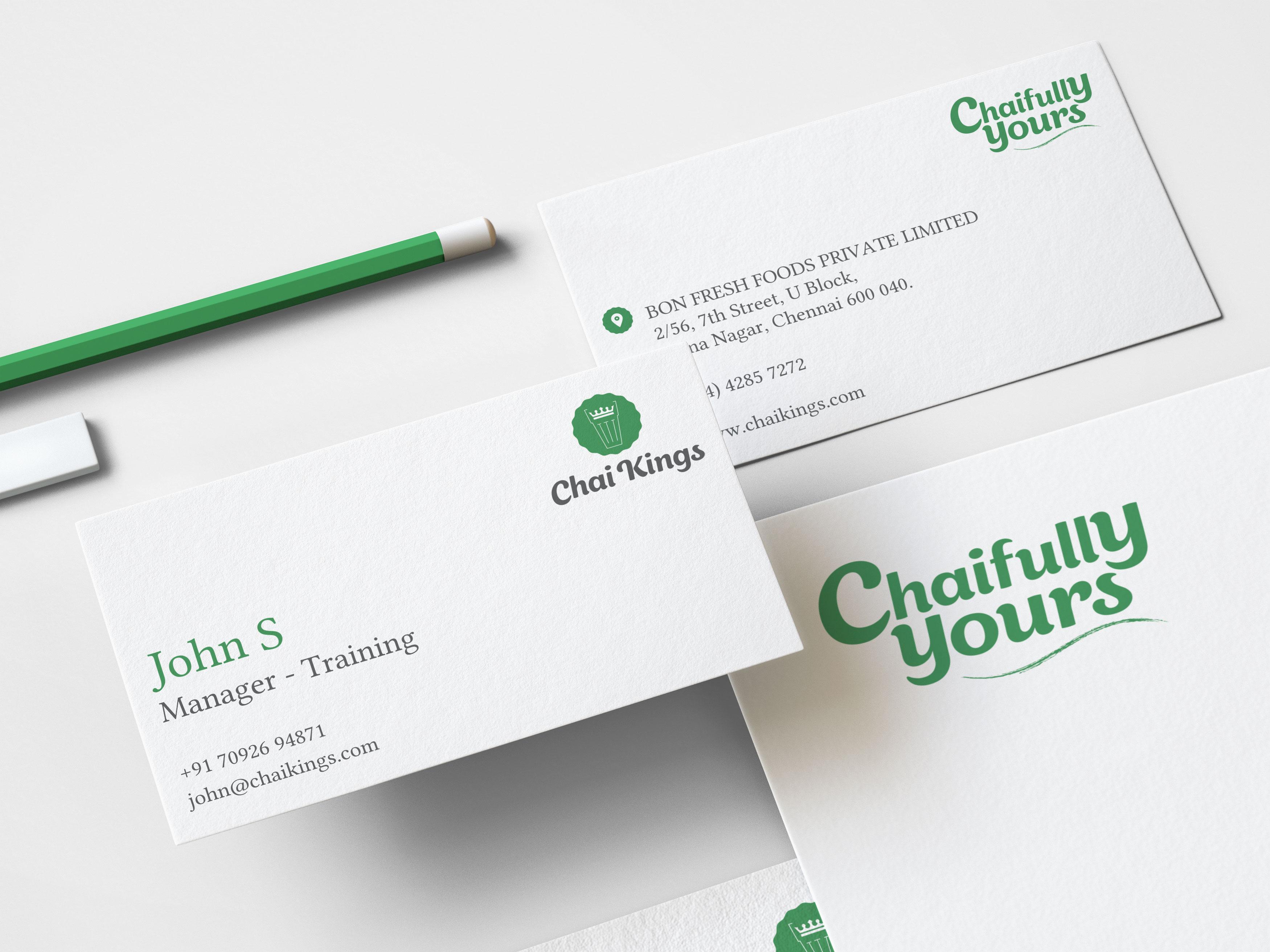 Chai Kings Business Card