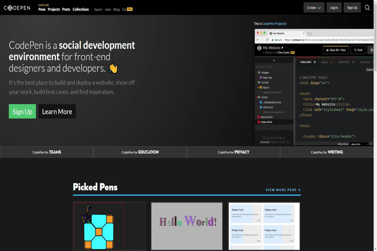 CodePen Vorschaubild