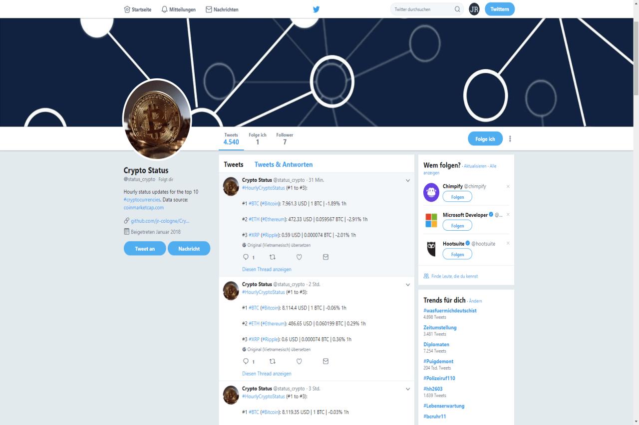 Crypto Status Vorschaubild