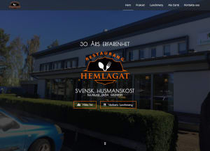 Restaurang Hemlagat website