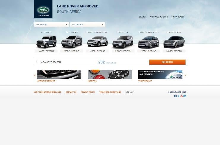 Vehicle selection screen