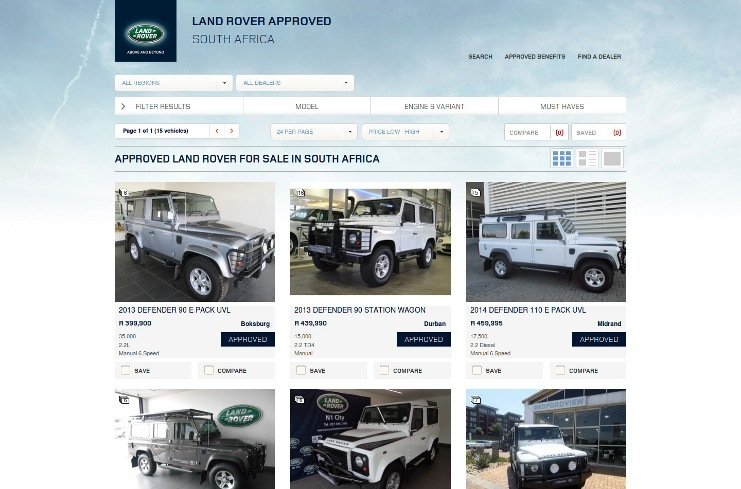 Vehicle search results