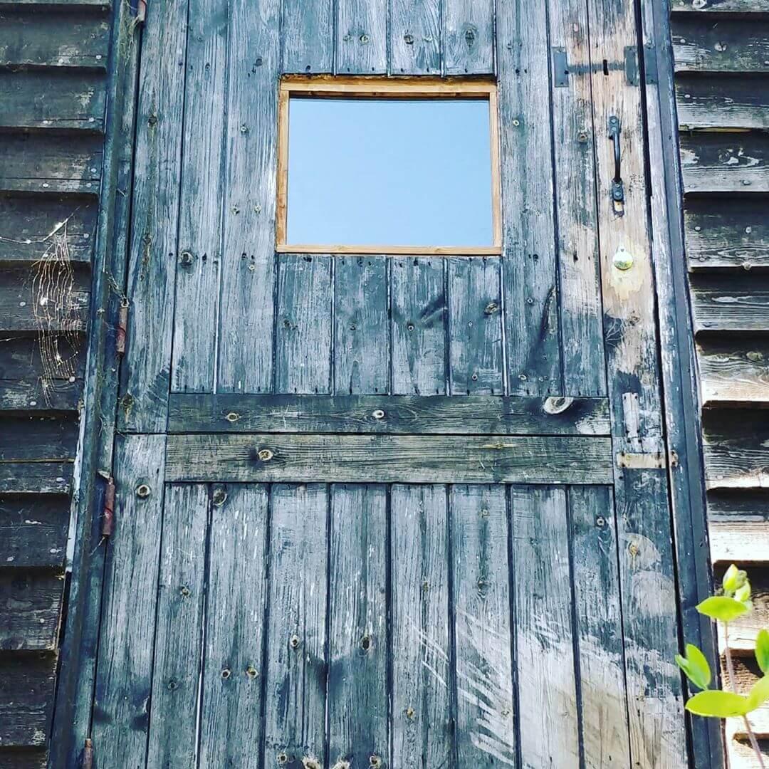 Door with glass window