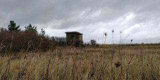 Photo showing a World War 2 battery observation post