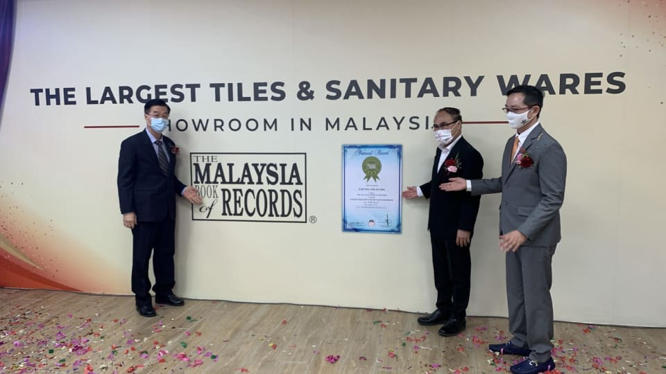 Jubin BMS launches Malaysia's Largest Tiles & Sanitary Wares Showroom by The Iskandarian